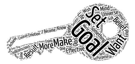 How to Set Effective Goals text background word cloud concept 向量圖像