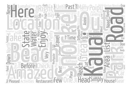 tried: Kauai snorkel locations to check out text background word cloud concept