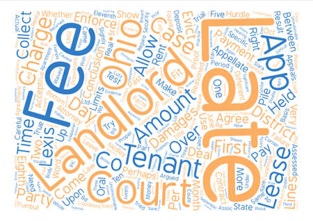 Landlord s Corner Apartment lease agreement Late fees in Ohio text background word cloud concept Illustration