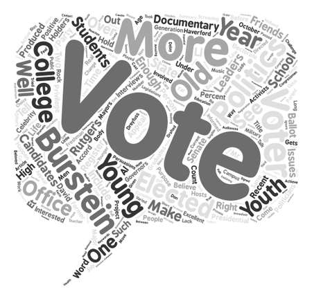 In Gets My Vote text background word cloud concept Illustration