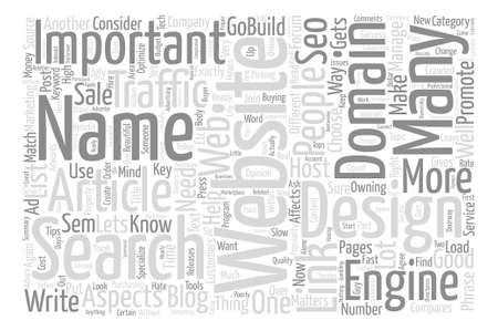 aspects: How Important Is Website Design Word Cloud Concept Text Background