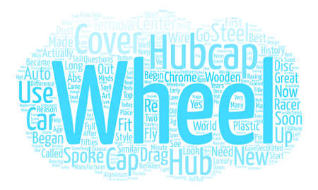 Hubcaps The History of the Great Cover Up Word Cloud Concept Text Background Illustration
