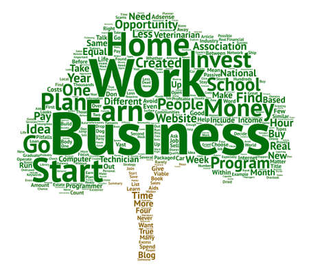 work less: How To Choose The Right Work At Home Business text background word cloud concept