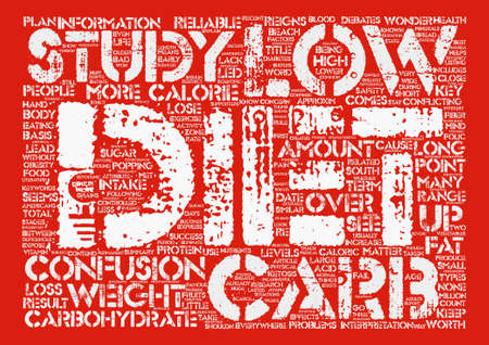 conflicting: Low Carb Diet Should I or Shouldn t I text background wordcloud concept