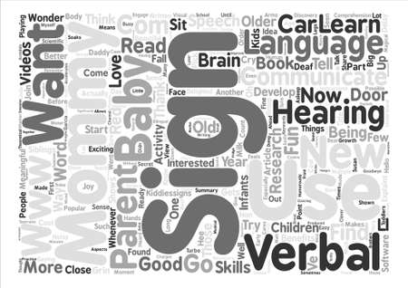 goodness: I m One Year Old and Thank Goodness for Sign Language Word Cloud Concept Text Background Illustration