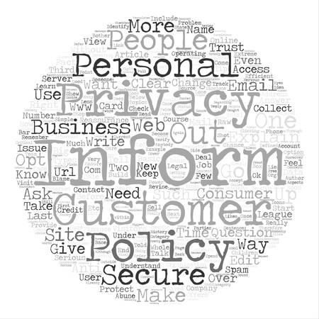 defined: How to write a Privacy Policy text background word cloud concept
