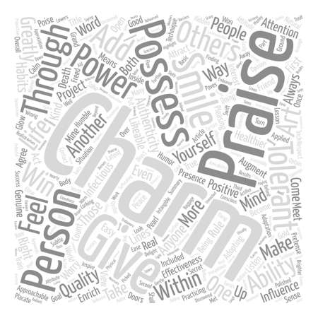 I am Charmed and You Text Background Word Cloud Concept