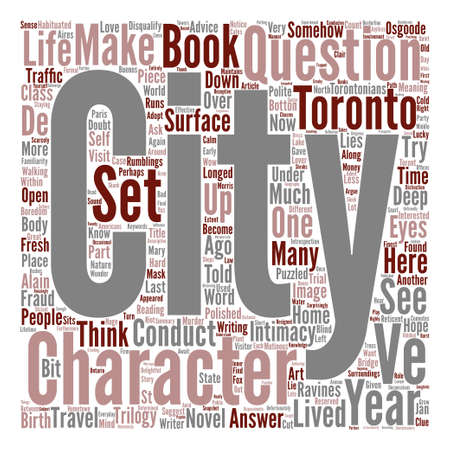 told: How A City Can Be A Character In Your Novel text background wordcloud concept
