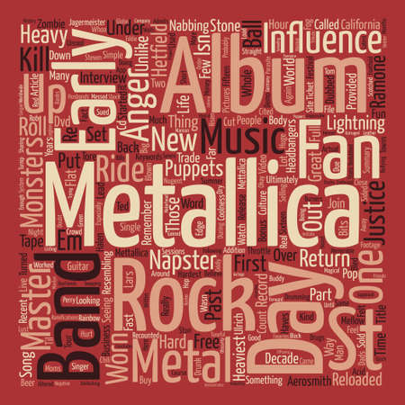 reloaded: Metallica St Anger text background word cloud concept