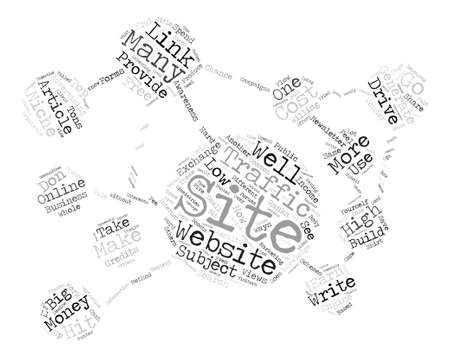 tons: How To Generate Low Cost Website Traffic text background word cloud concept