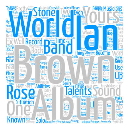 Ian Brown The World Is Yours text background word cloud concept