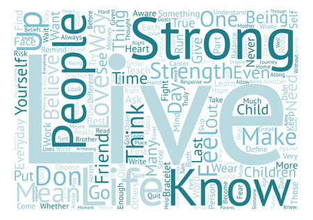 Live Strong text background word cloud concept