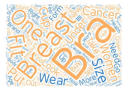 Is Your Bra Hazardous To Your Health Word Cloud Concept Text Background