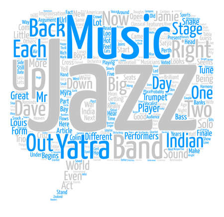 Jazz Yatra text background word cloud concept