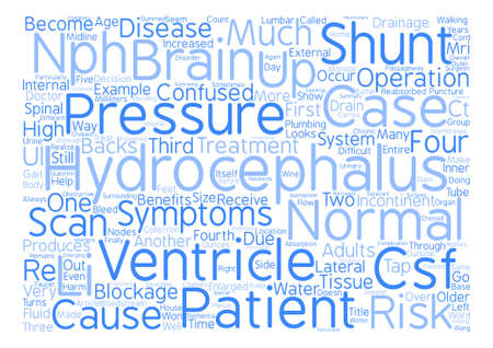 Hydrocephalus Too Much Water on the Brain text background wordcloud concept