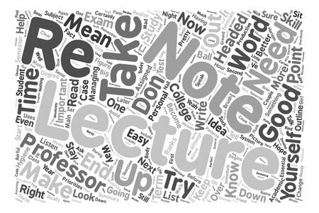 priorities: How To Take Lecture Notes text background word cloud concept