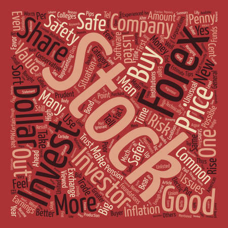 conservative: How Safe Are Shares Or The Forex text background word cloud concept