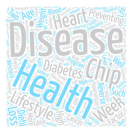 How People Reverse Heart Disease text background word cloud concept