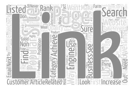 popularity: How to Increase Your Link Popularity text background word cloud concept Illustration