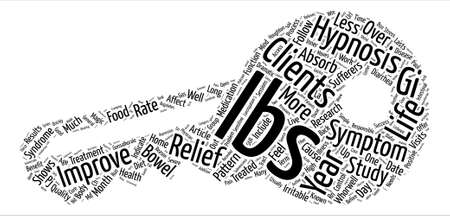Hypnosis Relieves Symptoms of Irritable Bowel Syndrome text background word cloud concept