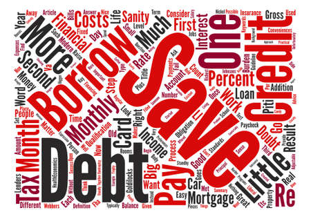 borrowing: How Much Should You Borrow text background word cloud concept Illustration