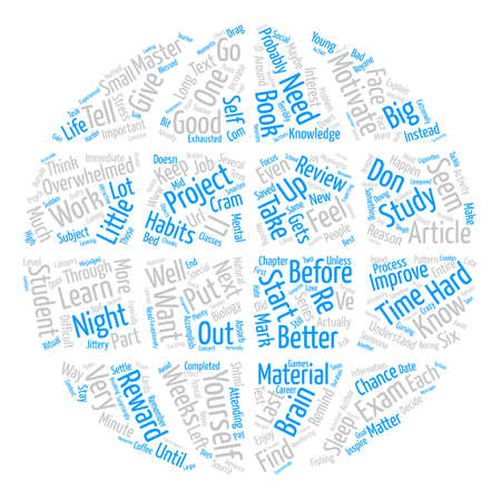 How to Improve Your Study Habits text background word cloud concept Illustration
