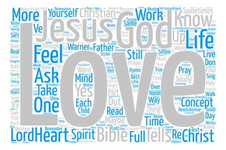 Jesus Loves Me text background word cloud concept