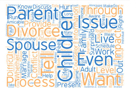 common sense: How to Tell Your Children About Divorce Word Cloud Concept Text Background