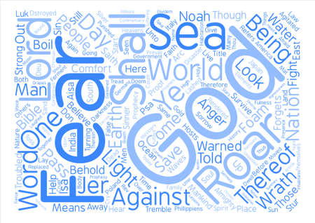 Let The Sea Roar Word Cloud Concept Text Background