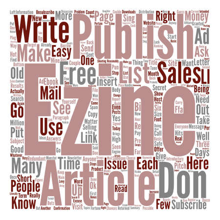I ll Show You Mine How To Start Your Own eZine text background word cloud concept