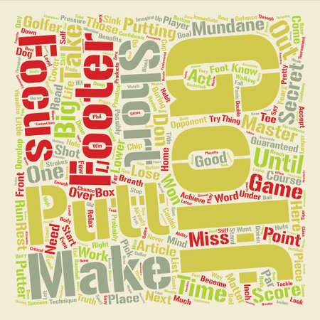 mundane: Lower Your Golf Score Guaranteed Master The Mundane text background word cloud concept