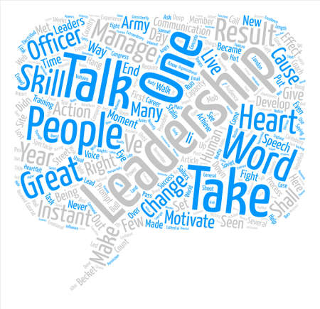 Instant Leadership Talks text background word cloud concept Illustration