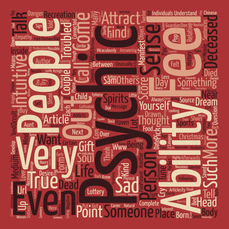 psychic: How Psychic Are You text background word cloud concept