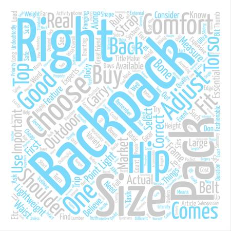 How To Choose A Right Backpack Word Cloud Concept Text Background