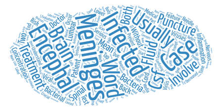 distinguishing: Meningitis and Encephalitis What s the Difference text background word cloud concept