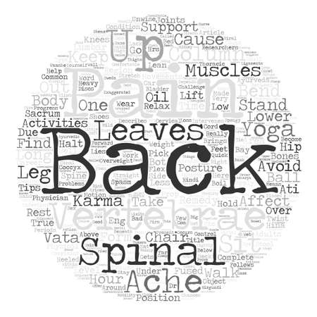 Keep back pain at bay Word Cloud Concept Text Background