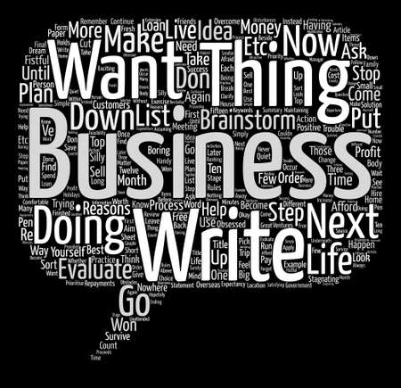 Know What You Want and Make It Happen Word Cloud Concept Text Background