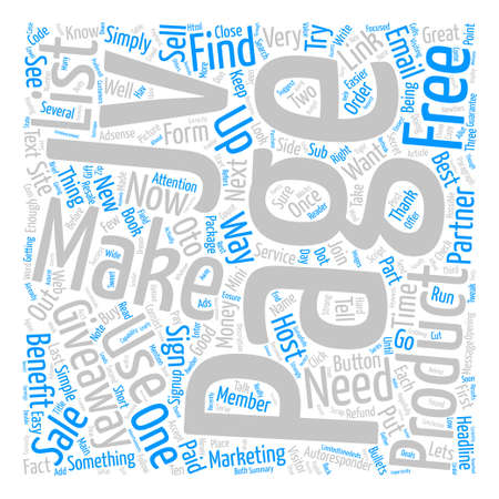 resale: How To Make Money With JV Giveaways Word Cloud Concept Text Background Illustration