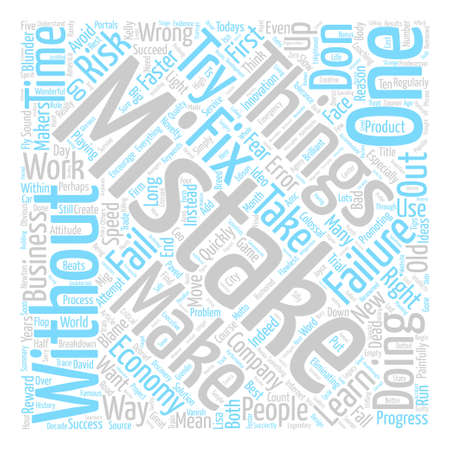blunder: How To Make Mistakes Word Cloud Concept Text Background
