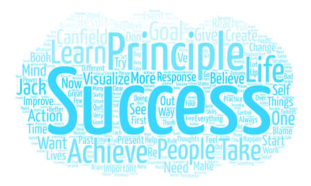 Jack Canfield s Success Principles text background word cloud concept