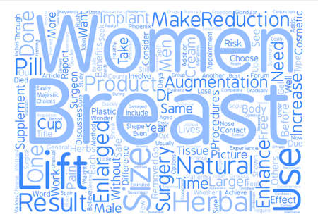 Increased Breast Enlargement Results Of Cup Sizes Word Cloud Concept Text Background