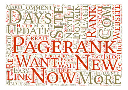 fails: How To Get A Pagerank In Days text background wordcloud concept Illustration