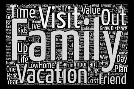 Low Cost Vacations And Family Values text background word cloud concept Reklamní fotografie - 73474610