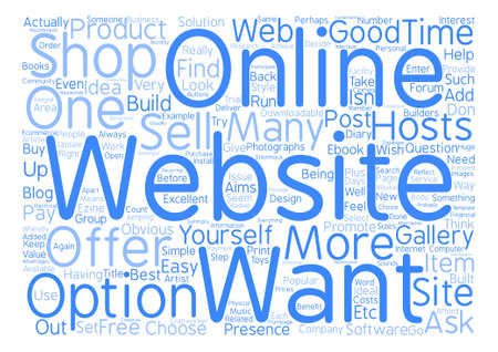 How To Choose The Right Website For You text background wordcloud concept