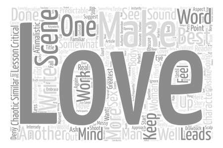 How To Write A Love Scene text background word cloud concept