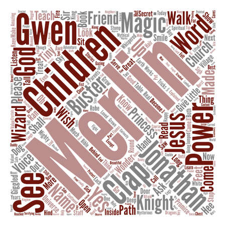 Merlins Magic Words text background word cloud concept