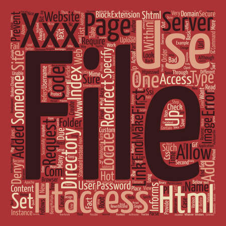 Htaccess text background word cloud concept