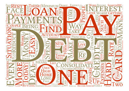 How To Pay Off Debt Word Cloud Concept Text Background