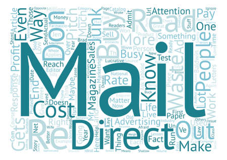 How to Know if Direct Mail Will Work for Your Business text background word cloud concept Ilustração