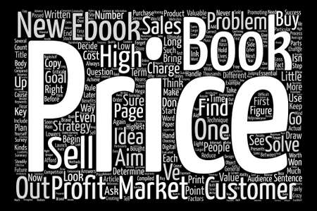 compiled: How to Market and Price Your Ebook Word Cloud Concept Text Background